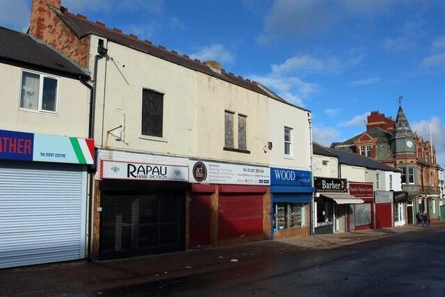 Shops, Front Street, Stanley