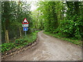 TG2632 : Road with No through Road or turning Signs by David Pashley