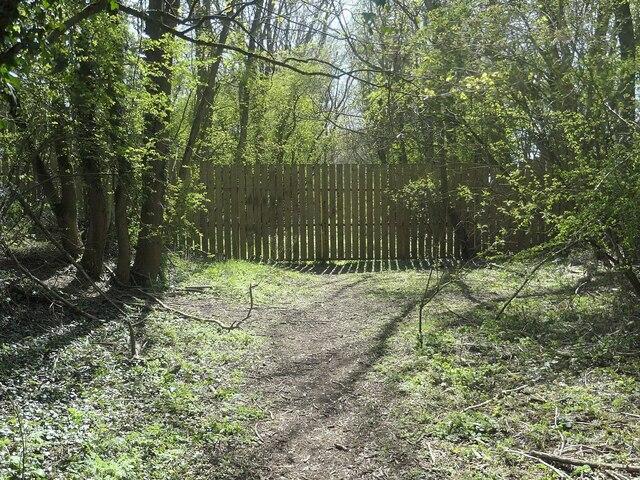 Northern fence across the railway embankment, Goodmanham