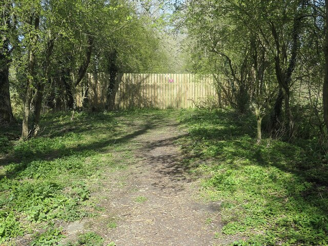 Southern fence across the railway embankment, Goodmanham