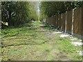SE8842 : Public footpath on the railway embankment, Goodmanham by Christine Johnstone