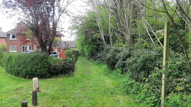Footpath in the suburbs
