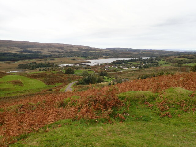 Dervaig from the viewpoint on the B8073