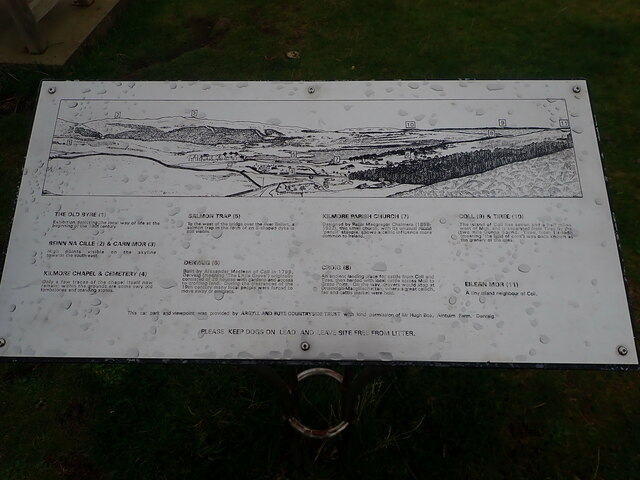 Toposcope at the Dervaig viewpoint
