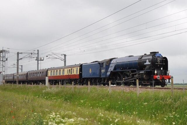 60163 'Tornado' between Baldock and Royston
