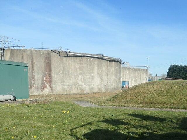 Tanks at Market Weighton waste water treatment works