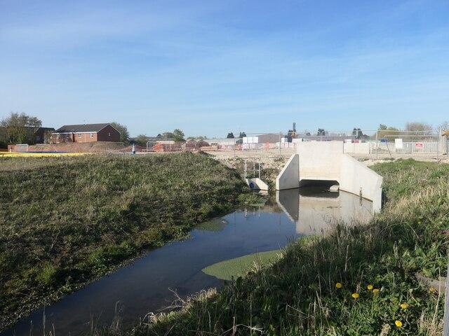 New bridge over Weighton Beck