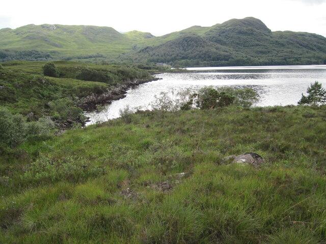 Loch Maree shore towards Sròn a' Choit
