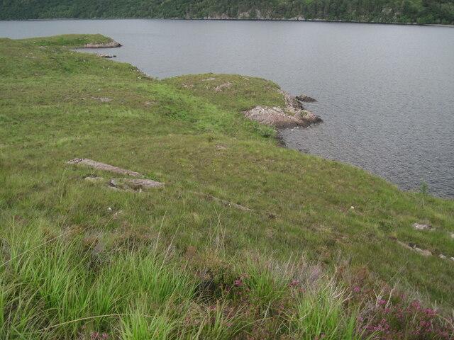 Loch Maree shore at Ploc Àird na h-Eibhe
