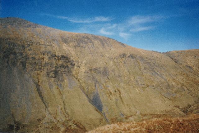 The south-eastern face of Elidir Fawr viewed across Cwm Dudodyn