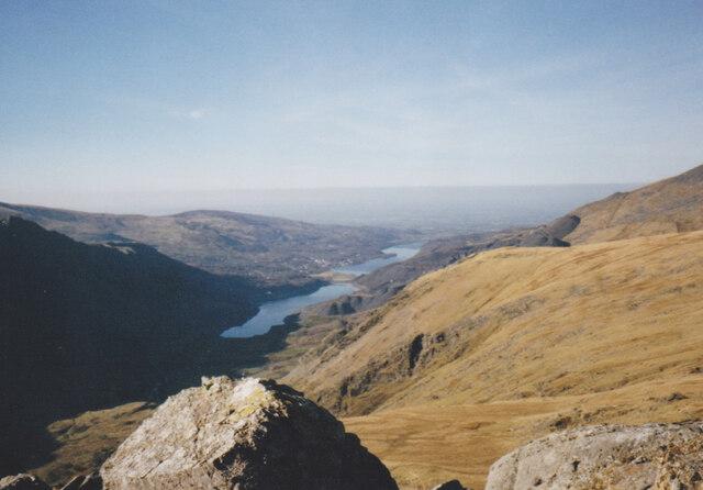 View West-northwest from Esgair Felen