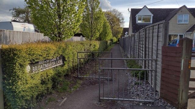 Path to Broadmarsh Lane
