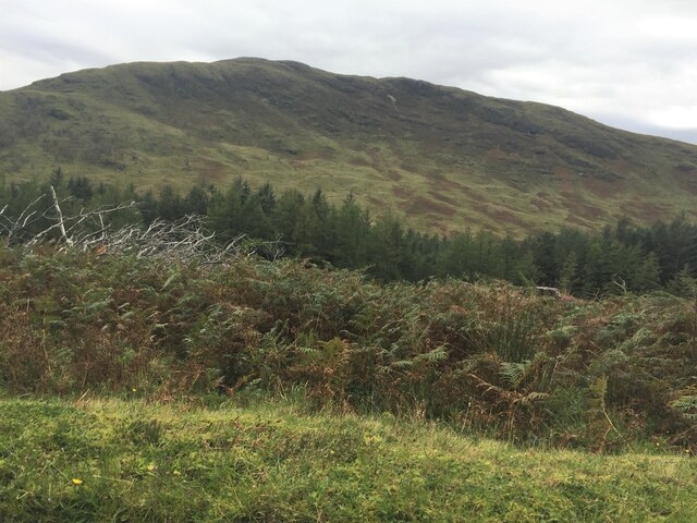 Lower slopes of Beinn Bhearnach