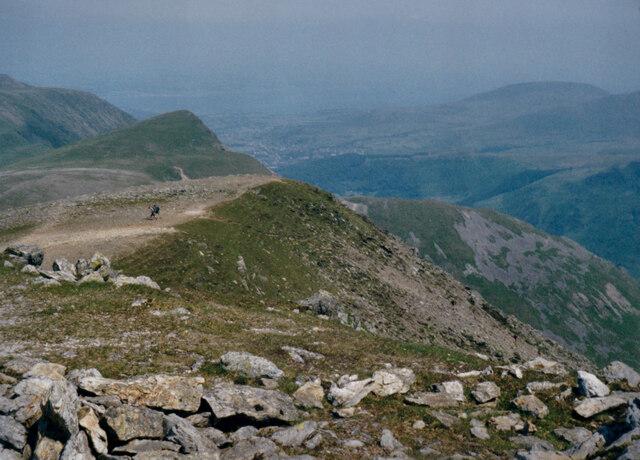 View due North towards Foel-goch from Y Garn