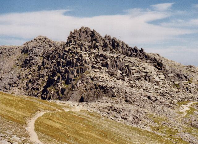 Path at Bwlch y Ddwy Glyder
