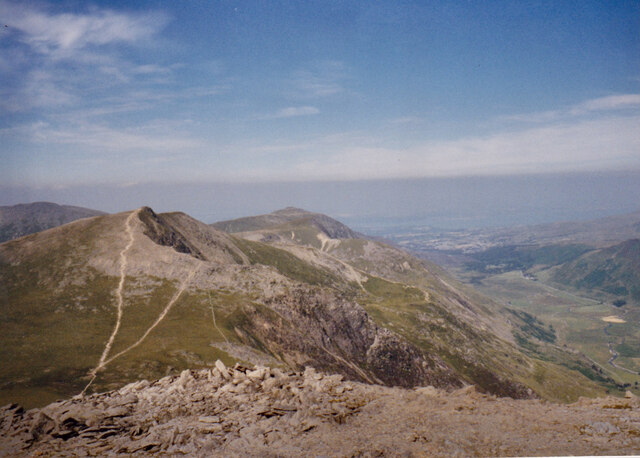 The northern Glyderau from the slopes of Glyder Fawr