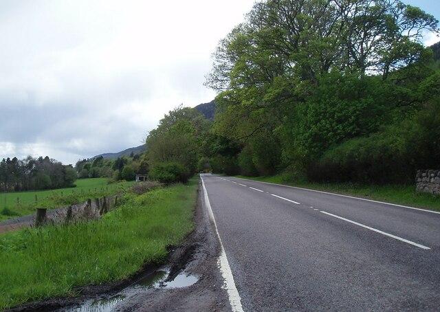 The A82 southbound near Middleton by Douglas Nelson