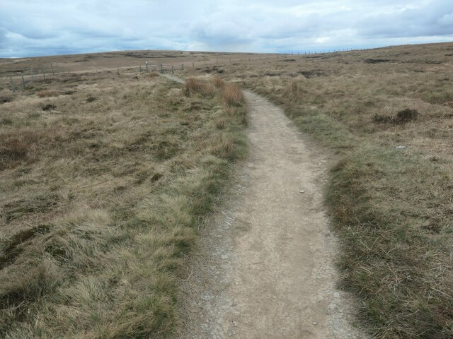 Pennine Way heading south on Green Hole Hill