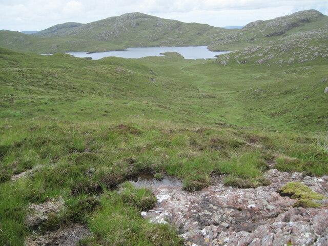 Valley towards Loch Airigh a' Phuill