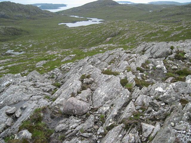 Meall an Spardain towards Loch Airigh a' Phuill