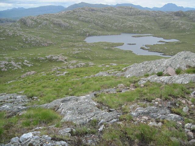 Meall Fuaraidh towards Loch Airigh a' Phuill