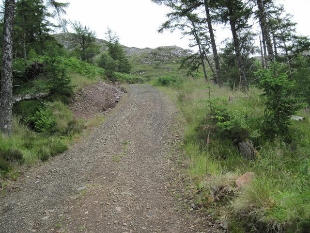 Track towards Loch Airigh a' Phuill