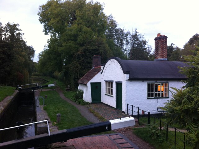 Lengthsman's Cottage, Stratford upon Avon Canal, Lowsonford, at dusk