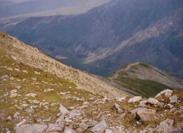 The Cwm Clyd ridge on Y Garn