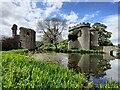 SJ3231 : Moat at Whittington Castle by Mat Fascione