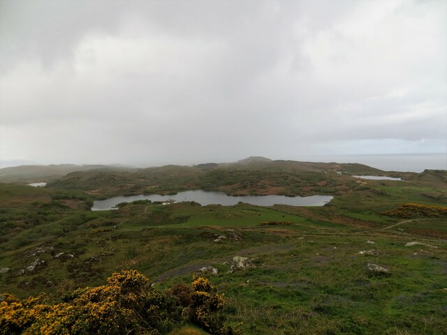Mill Loch from the slopes of Creag Bhan, Gigha
