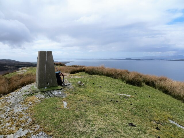 Trig pillar on Cnoc Donn, Kintyre