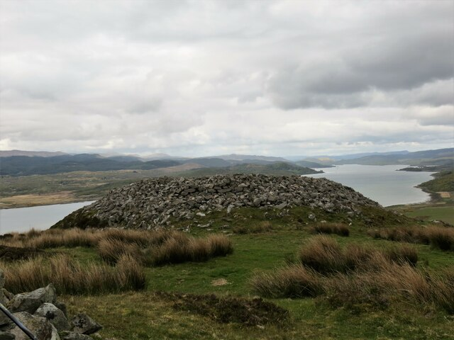 Remains of a fort and dun on Dun Skeig, Kintyre