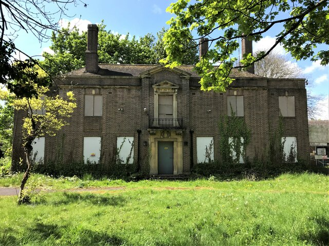 Abandoned building on the site of the former Johnson Hospital in Spalding