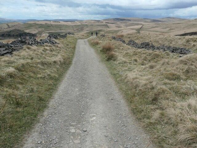 Descending north-east towards Piethorne reservoir
