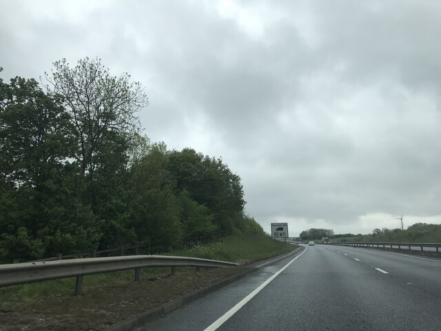 Signage on the A14 - Eastbound