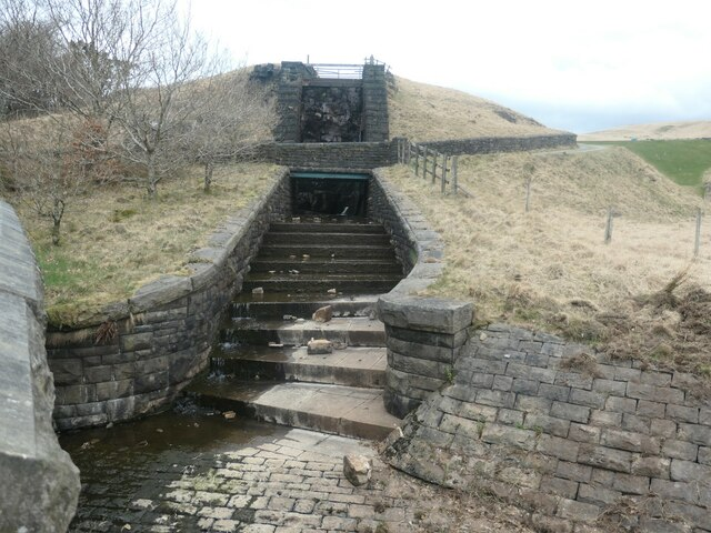 Stepped channel from Norman Hill reservoir
