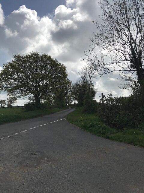 Minor road near Rendham