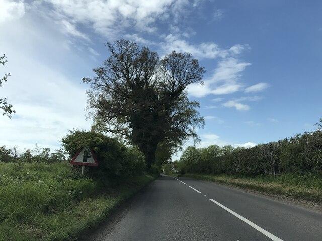Junction near Hemp Green