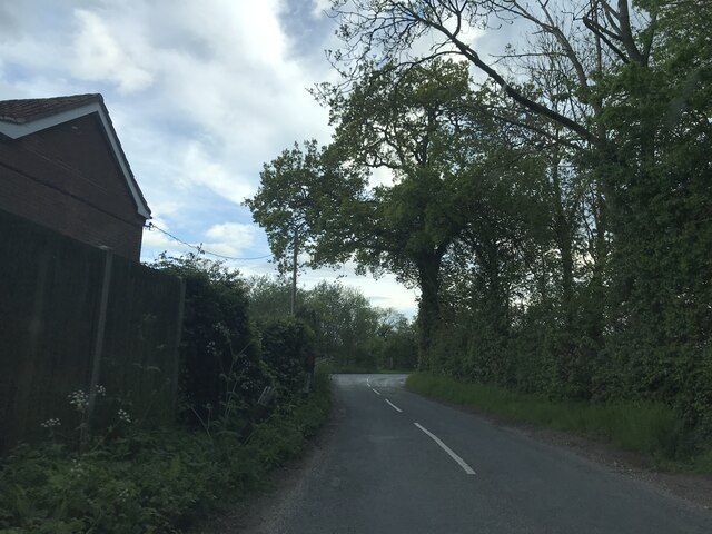 Junction near Little Whittingham