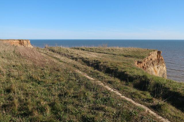 Former coast path near Trimingham
