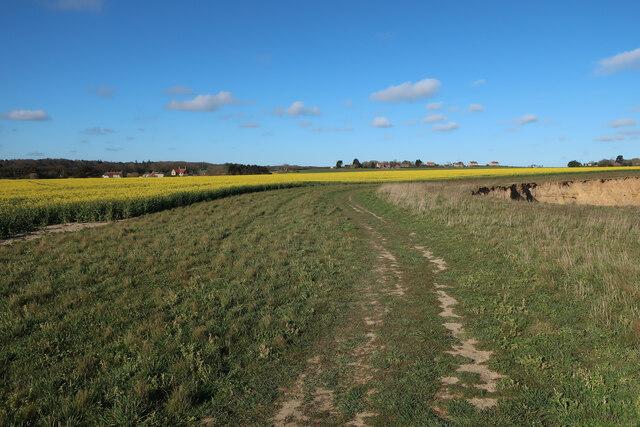 England Coast Path towards Sidestrand