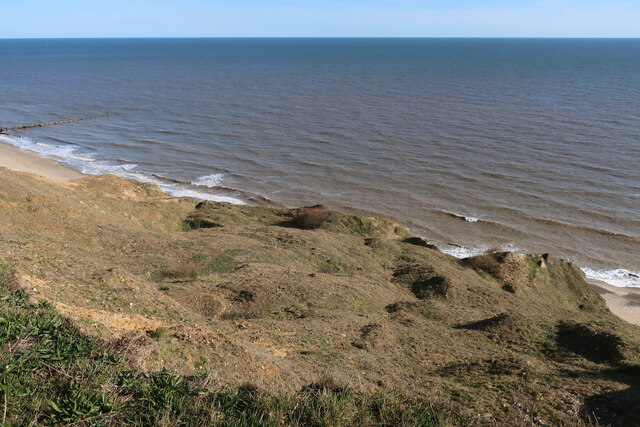 Vegetated cliffs near Sidestrand
