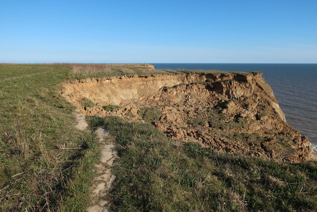Coastal erosion near Trimingham