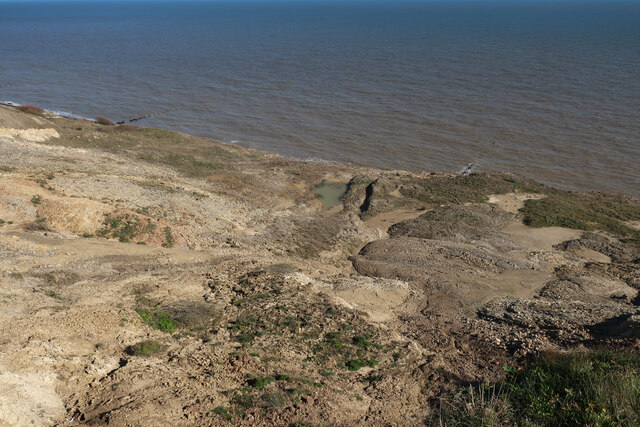 Eroding cliffs at Trimingham