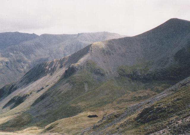 Cwm Clyd from the Cwm Clyd Ridge of Y Garn