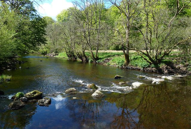 Stones across the Water of Girvan