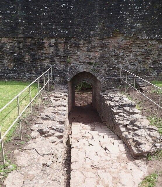 Skenfrith Castle - Water Gate - within the castle walls