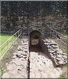 SO4520 : Skenfrith Castle - Water Gate - within the castle walls by Rob Farrow