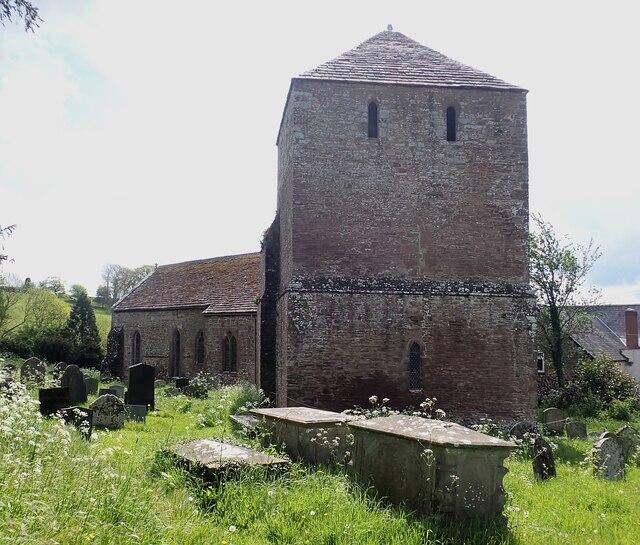 Garway - St Michael's Church - from entrance gateway
