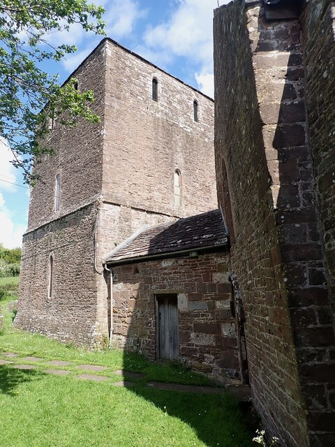 Garway - St Michael's Church - Tower with later link